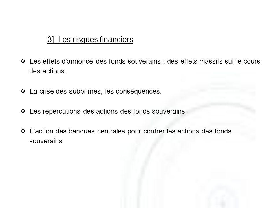3]. Les risques financiers